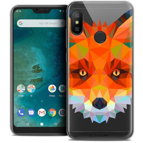 "Extra Slim Crystal Gel Xiaomi Mi A2 LITE (5.8"") Case Polygon Animals Fox"