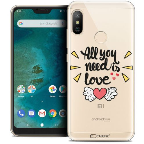 "Extra Slim Crystal Gel Xiaomi Mi A2 LITE (5.8"") Case Love All U Need Is"
