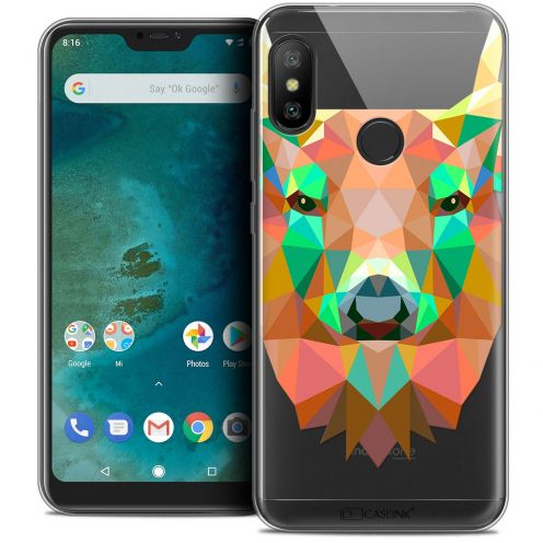 "Extra Slim Crystal Gel Xiaomi Mi A2 LITE (5.8"") Case Polygon Animals Deer"