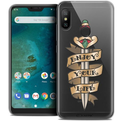 "Extra Slim Crystal Gel Xiaomi Mi A2 LITE (5.8"") Case Tatoo Lover Enjoy Life"