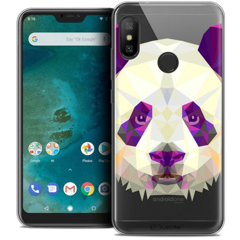 "Extra Slim Crystal Gel Xiaomi Mi A2 LITE (5.8"") Case Polygon Animals Panda"