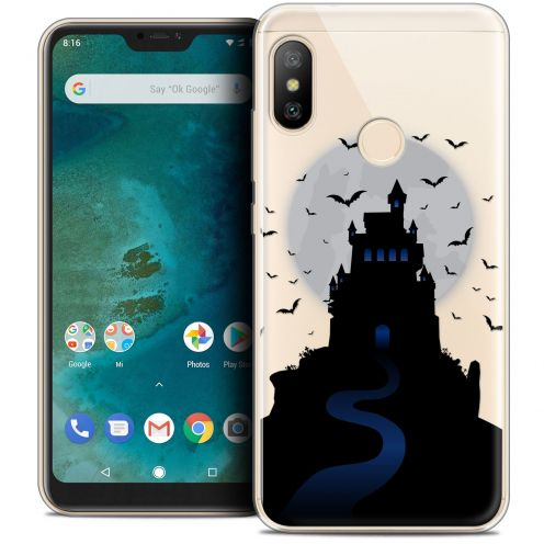 "Extra Slim Crystal Gel Xiaomi Mi A2 LITE (5.8"") Case Halloween Castle Nightmare"