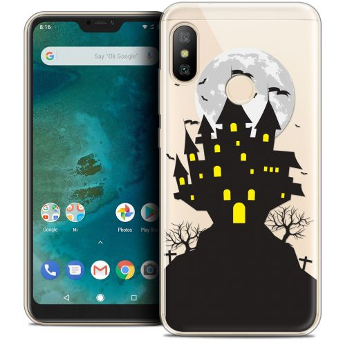 "Extra Slim Crystal Gel Xiaomi Mi A2 LITE (5.8"") Case Halloween Castle Scream"