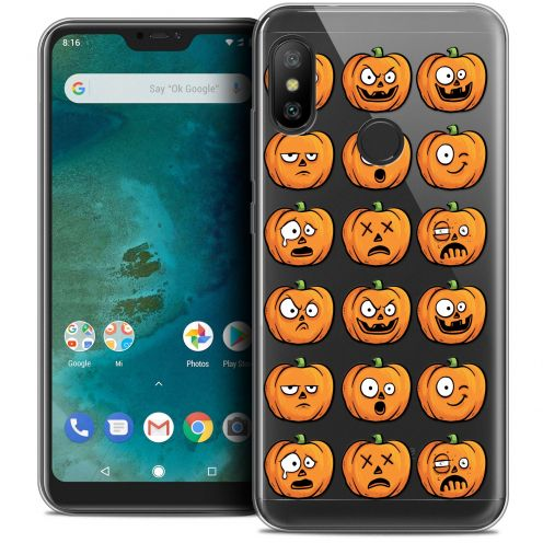 "Extra Slim Crystal Gel Xiaomi Mi A2 LITE (5.8"") Case Halloween Cartoon Citrouille"
