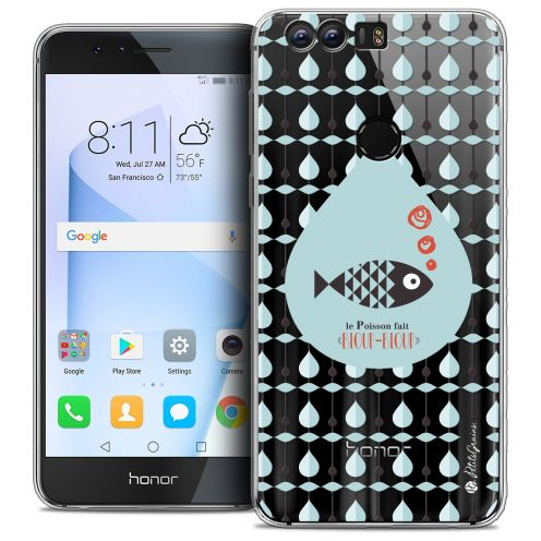 "Extra Slim Crystal Gel Huawei Honor 8 (5.2"") Case Petits Grains® Le Poisson"