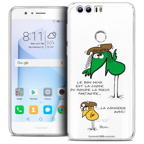 "Extra Slim Crystal Gel Huawei Honor 8 (5.2"") Case Les Shadoks® Le Partage"