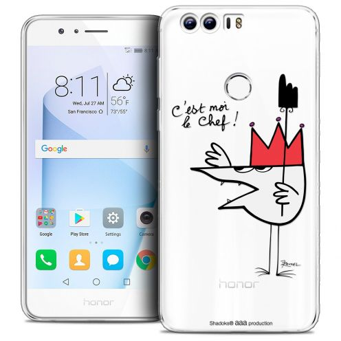 """Extra Slim Crystal Gel Huawei Honor 8 (5.2"""") Case Les Shadoks® Le Chef"""