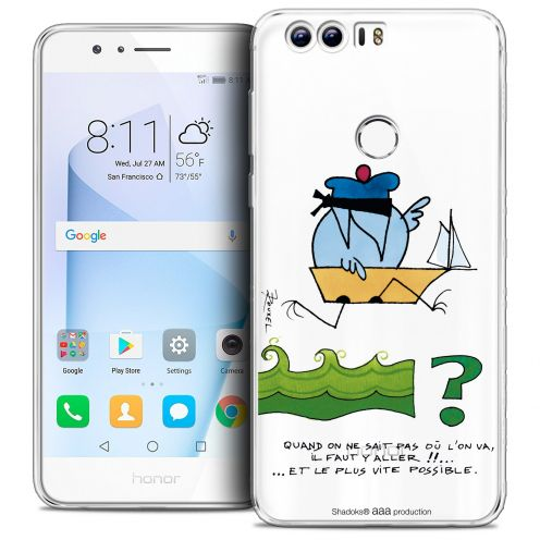 "Extra Slim Crystal Gel Huawei Honor 8 (5.2"") Case Les Shadoks® Il Faut Y Aller !!"