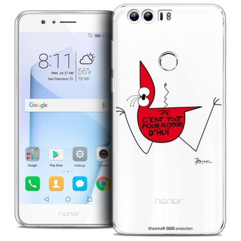 "Extra Slim Crystal Gel Huawei Honor 8 (5.2"") Case Les Shadoks® C'est Tout"
