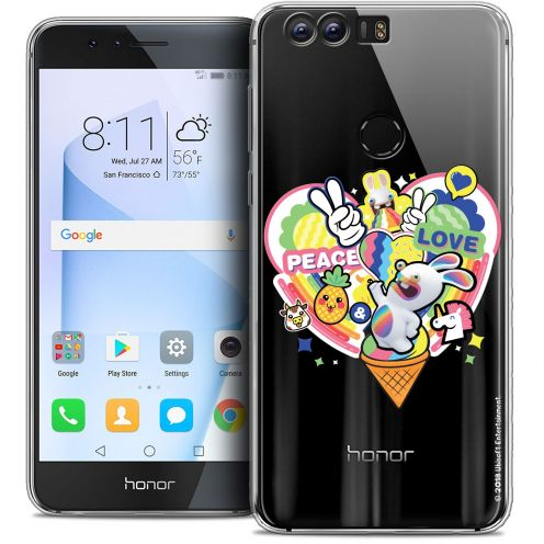 """Crystal Gel Huawei Honor 8 (5.2"""") Case Lapins Crétins™ Peace And Love"""