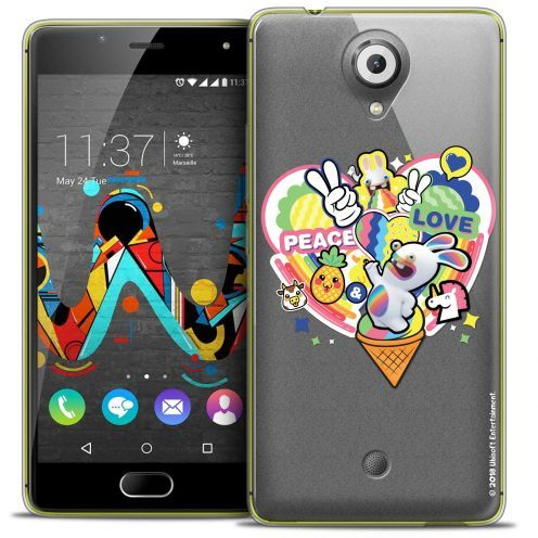 Crystal Gel Wiko U Feel Case Lapins Crétins™ Peace And Love