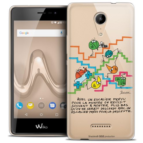 "Extra Slim Crystal Gel Wiko Tommy 2 (5"") Case Les Shadoks® L'escalier"