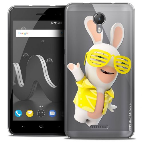 """Crystal Gel Wiko Jerry 2 (5"""") Case Lapins Crétins™ Sun Glassss!"""