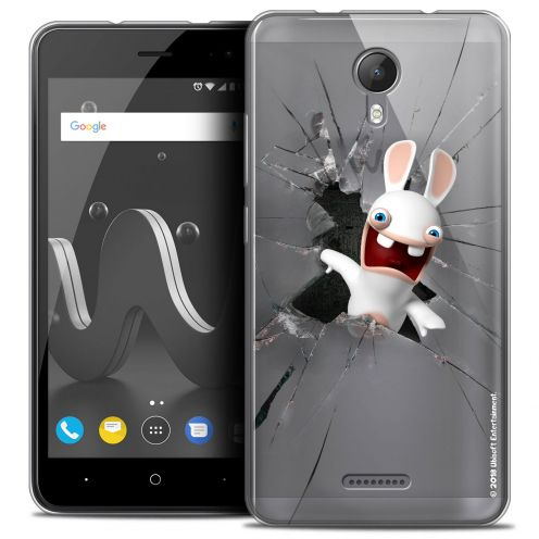 """Crystal Gel Wiko Jerry 2 (5"""") Case Lapins Crétins™ Breaking Glass"""