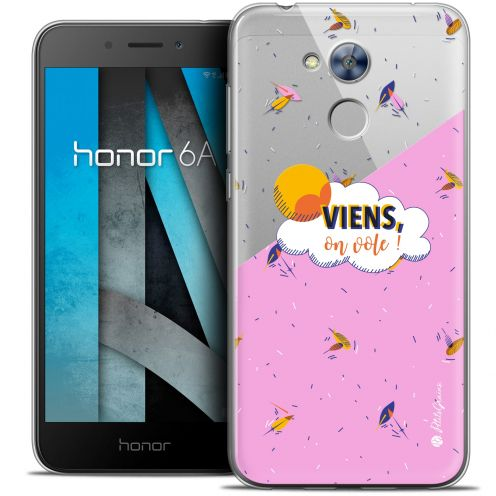 "Extra Slim Crystal Gel Huawei Honor 6A (5"") Case Petits Grains® VIENS, On Vole !"