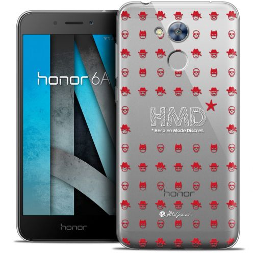 "Extra Slim Crystal Gel Huawei Honor 6A (5"") Case Petits Grains® HMD* Hero en Mode Discret"