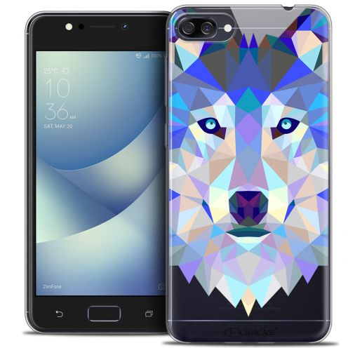 "Extra Slim Crystal Gel Asus Zenfone 4 MAX ZC520KL (5.2"") Case Polygon Animals Wolf"