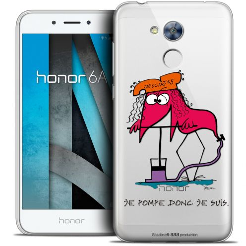 """Extra Slim Crystal Gel Huawei Honor 6A (5"""") Case Les Shadoks® Donc Je Suis"""