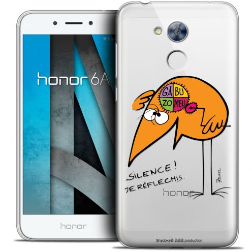 "Extra Slim Crystal Gel Huawei Honor 6A (5"") Case Les Shadoks® Silence !"