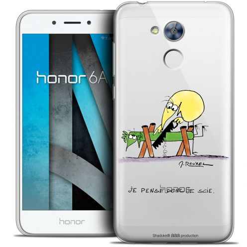 "Extra Slim Crystal Gel Huawei Honor 6A (5"") Case Les Shadoks® Je pense Donc"