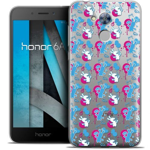 "Crystal Gel Huawei Honor 6A (5"") Case Lapins Crétins™ Rugby Pattern"