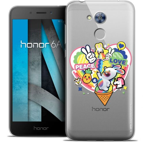 "Crystal Gel Huawei Honor 6A (5"") Case Lapins Crétins™ Peace And Love"