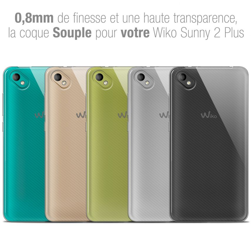 """Extra Slim 1mm Crystal Clear View Flexible Case Wiko Sunny 2 PLUS (5"""")"""