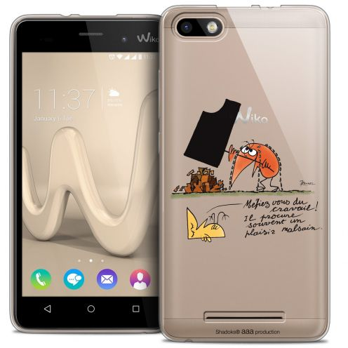 Extra Slim Crystal Gel Wiko Lenny 3 Case Les Shadoks® Le Travail