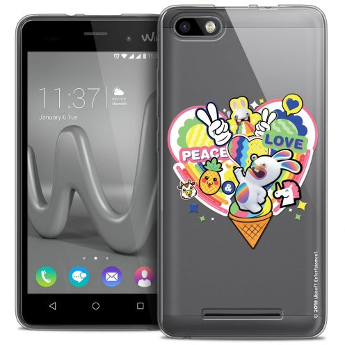 Crystal Gel Wiko Lenny 3 Case Lapins Crétins™ Peace And Love