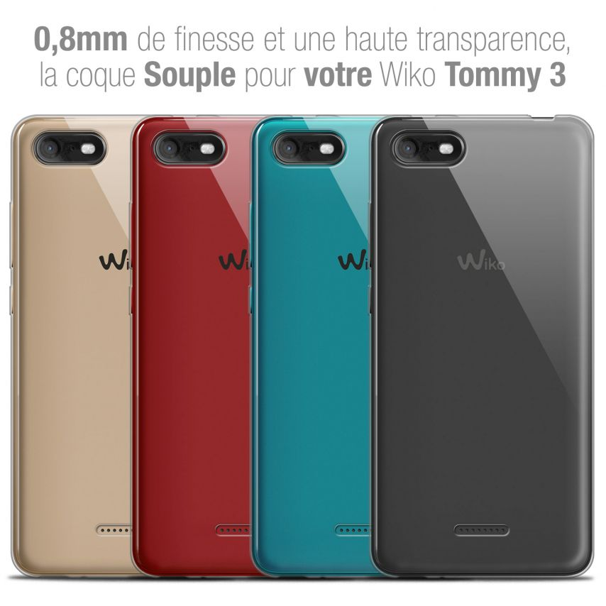 """Extra Slim 1mm Crystal Clear Tommy 3 Flexible Case Wiko Tommy 3 (5.45"""")"""