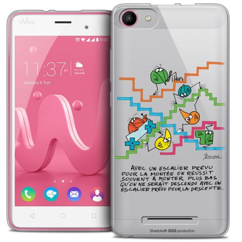 Extra Slim Crystal Gel Wiko Jerry Case Les Shadoks® L'escalier