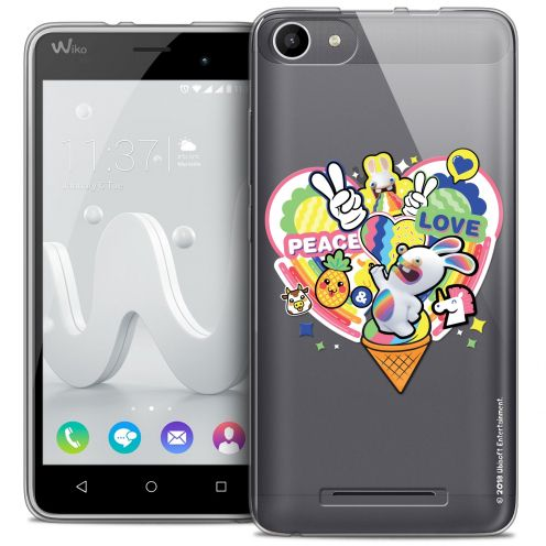 Crystal Gel Wiko Jerry Case Lapins Crétins™ Peace And Love
