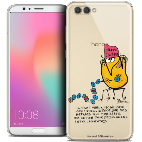 "Extra Slim Crystal Gel Honor View 10 / V10 (6"") Case Les Shadoks® Einstein"