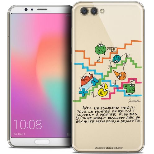 "Extra Slim Crystal Gel Honor View 10 / V10 (6"") Case Les Shadoks® L'escalier"
