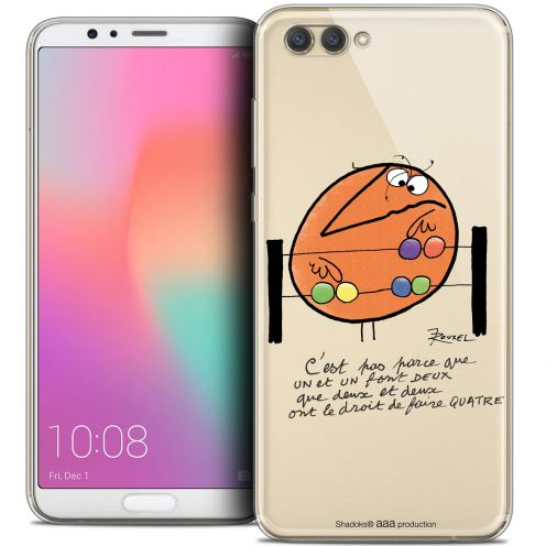 "Extra Slim Crystal Gel Honor View 10 / V10 (6"") Case Les Shadoks® Mathématique"