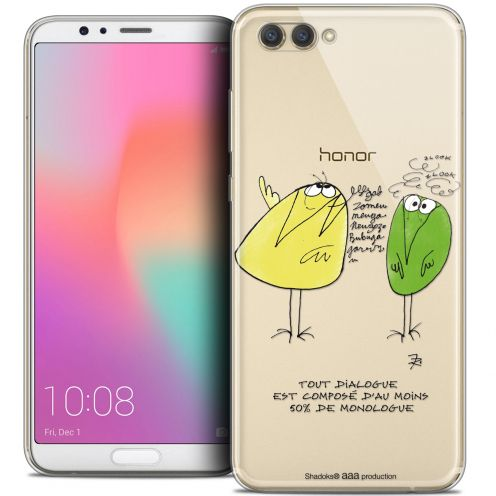 "Extra Slim Crystal Gel Honor View 10 / V10 (6"") Case Les Shadoks® Le Dialogue"