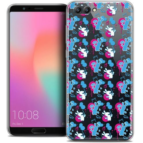 "Crystal Gel Honor View 10 / V10 (6"") Case Lapins Crétins™ Rugby Pattern"