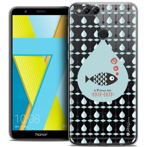 "Extra Slim Crystal Gel Honor 7X (5.9"") Case Petits Grains® Le Poisson"