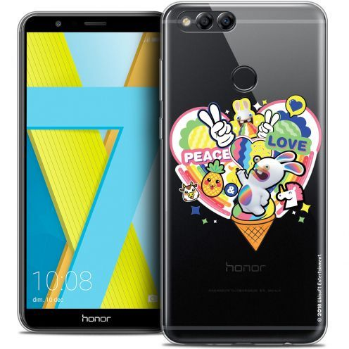 "Crystal Gel Honor 7X (5.9"") Case Lapins Crétins™ Peace And Love"