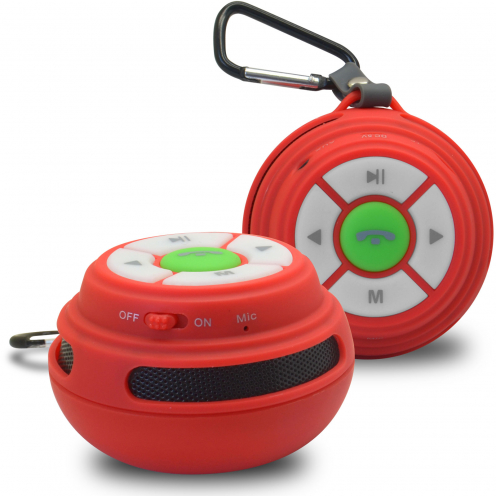 Ultimate SoundBall Bluetooth Speaker 3W Red USB/Micro SD/Jack