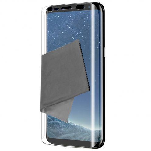 Clubcase ® Ultra Clear Full Cover HD screen protector for Galaxy S8+ / Plus 3-Pack
