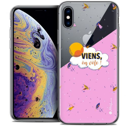"Extra Slim Crystal Gel Apple iPhone Xs Max (6.5"") Case Petits Grains® VIENS, On Vole !"