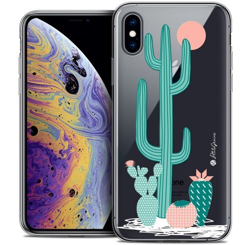 "Extra Slim Crystal Gel Apple iPhone Xs Max (6.5"") Case Petits Grains® A l'Ombre des Cactus"