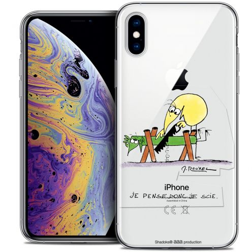 "Extra Slim Crystal Gel Apple iPhone Xs Max (6.5"") Case Les Shadoks® Je pense Donc"