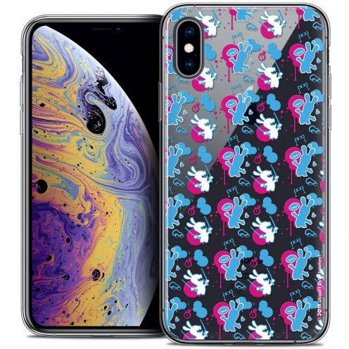 """Crystal Gel Apple iPhone Xs Max (6.5"""") Case Lapins Crétins™ Rugby Pattern"""