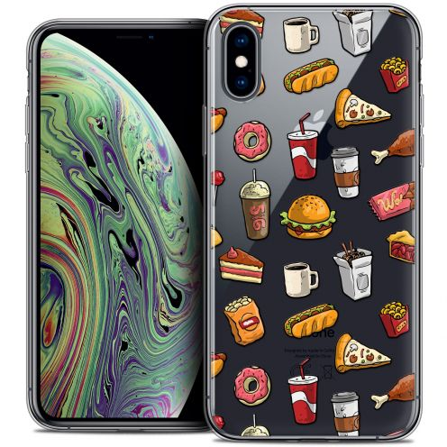 "Extra Slim Crystal Gel Apple iPhone Xs Max (6.5"") Case Foodie Fast Food"