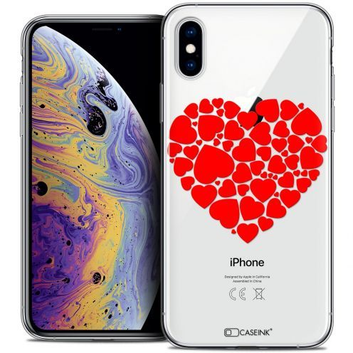 "Extra Slim Crystal Gel Apple iPhone Xs Max (6.5"") Case Love Coeur des Coeurs"