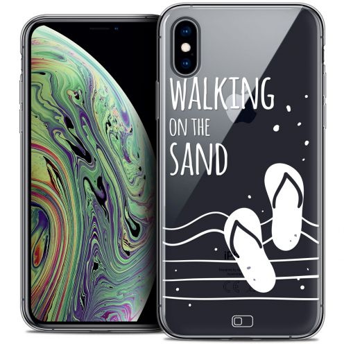 "Extra Slim Crystal Gel Apple iPhone Xs Max (6.5"") Case Summer Walking on the Sand"