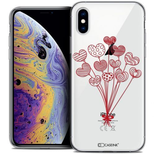 "Extra Slim Crystal Gel Apple iPhone Xs Max (6.5"") Case Love Ballons d'amour"