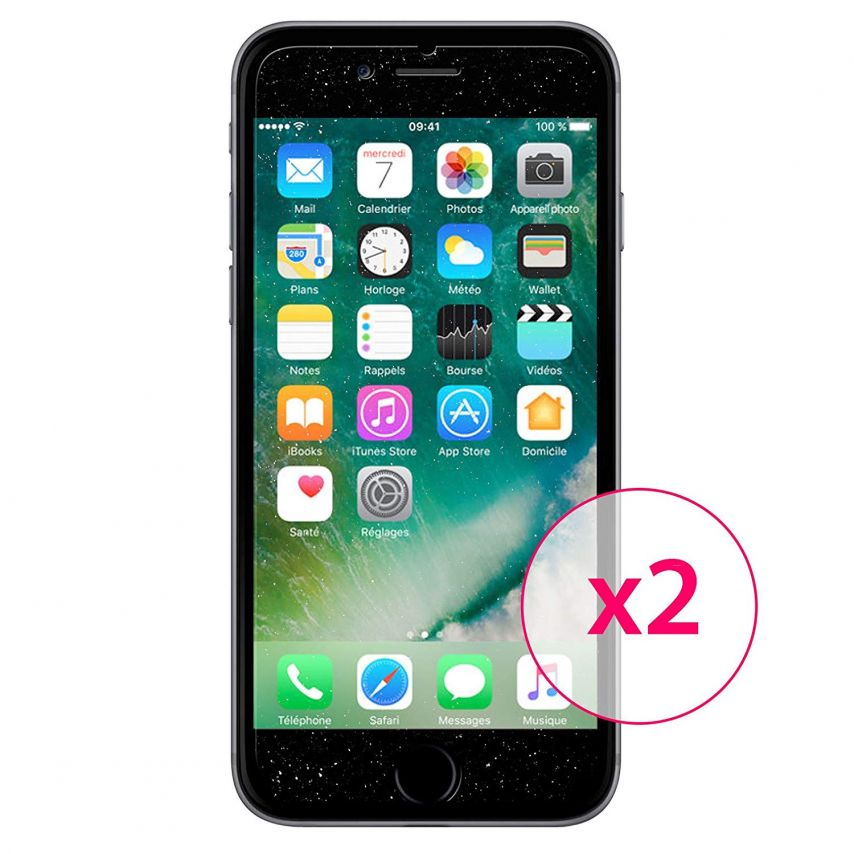 Pack of 2 Clubcase® Diamond Screen protector for iPhone 7/8 (4.7)